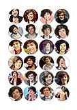 24 x Essbare Harry Styles One Direction Kuchen Topper