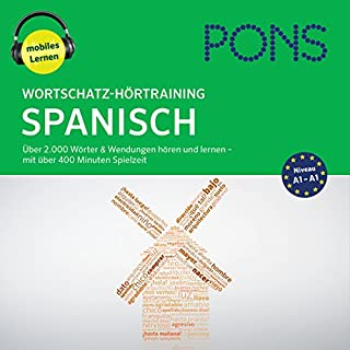 Wortschatz-Hörtraining Spanisch: Über 2.000 Wörter & Wendungen hören und lernen Titelbild
