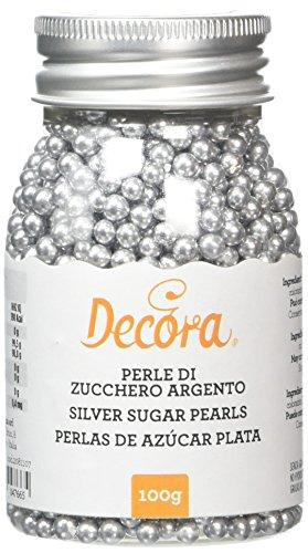 Decora Perle Di Zucchero Argento - 100 g