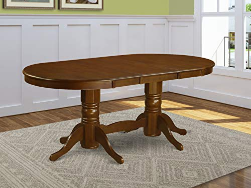 East West Furniture VAT-ESP-TP Oval Double Pedestal Dining Room Table