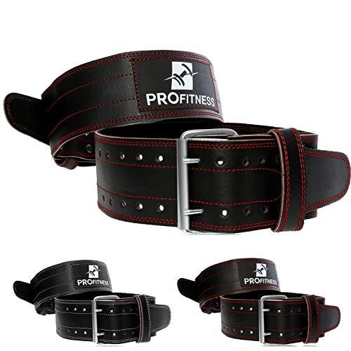 ProFitness Genuine Leather Workout Belt Weightlifting Gym Belt for Men...