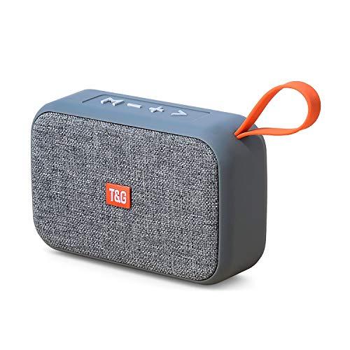 Bluetooth Lautsprecher 5.0, Mini Wireless Tragbarer Lautsprecher, TWS 360° Stereo Sound Intensiver Bass Außen Lautsprecher, Kabelloser Lautsprecher Unterstützung für USB/TF/Aux/Micro SD Karte/FM Radio