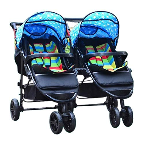Fantastic Deal! ZXCVB Double Baby Stroller, Jogging Stroller, Twin Tandem Umbrella Stroller with Adj...