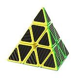 Twister.CK Pyraminx Pyramid Speed Cube with Carbon Fiber Sticker,...