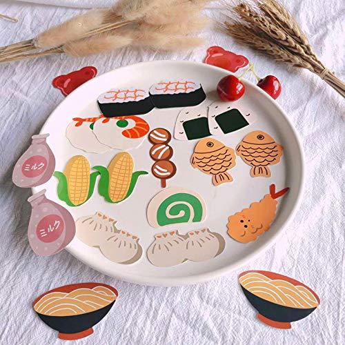 HHSM ins lindo japonés comida sushi graffiti manual de comercio exterior refrigerador teléfono móvil computadora equipaje pegatinas 50PCS
