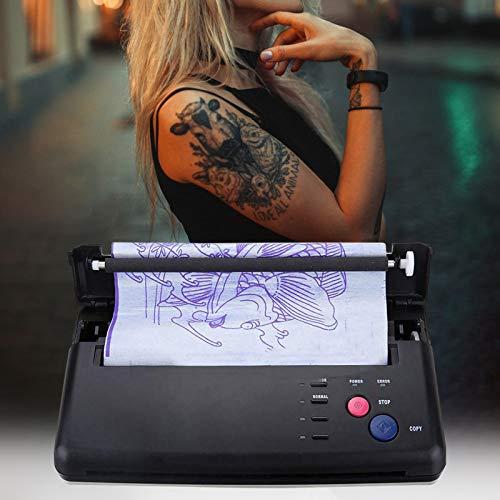 S SMAUTOP Máquina de transferencia de tatuajes, Impresora térmica de tatuajes en modo cis Copiadora de máquina Con papel de transferencia térmica de 10 piezas, Para de tatuaje de bricolaje
