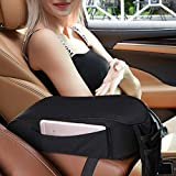 Forala Universal Center Console Cover for Most Vehicle, SUV, Truck, Car, Breathable Memory Foam Armrest Center Console Pad, Car Armrest Seat Box Cover Protector (Black)