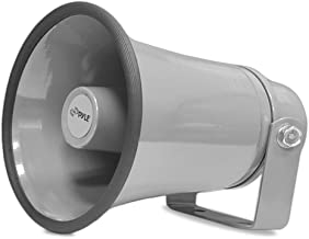 """Indoor / Outdoor PA Horn Speaker - 8.1"""" Portable PA Speaker with 8 Ohms Impedance & 50 Watts Peak Power - Mounting Bracket & Hardware Included - Pyle PHSP8K"""