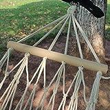 Junean Hamaca de Cuerda de algodón, Hamaca de Cuerda de algodón Tradicional con Hardware para Colgar Gratis con Bolsa de Color Natural