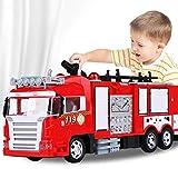 Camión remoto Control de Incendios de niños de los niños del coche policía del juguete policías del coche eléctrico Los bomberos de rescate de tren puede rociar regalos del coche de bomberos Camión de