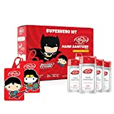 Lifebuoy Hand Sanitizer Super Hero Kit | Superman & Wonder Woman | Anti bacterial 70% Alcohol based Sanitizer | perfect for gifting | 4 units x 50ml + 2 bag tags