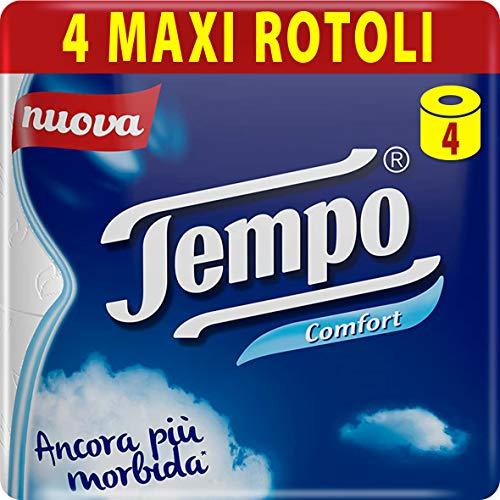 Tempo Comfort Carta Igienica, Morbida e Resistente, 4 Maxi Rotoli