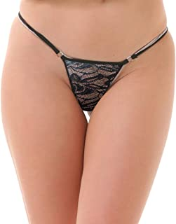 Lola Dola Women Ladies Girls Polyamide G-String Panty Set of 1 (Black, Free)