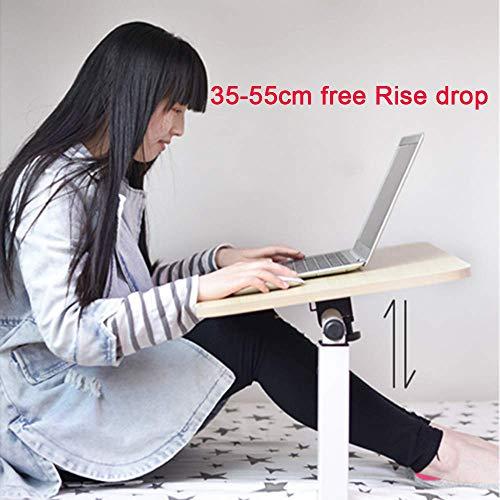 FSYGZJ Verstellbarer Laptop-Nachttisch, Tablett-Tisch, tragbarer Stehpult, mit faltbaren Beinen, Faltbarer Sofa-Frühstückstisch, Leseständer für Notebook-Ständer für Couchboden, weiß