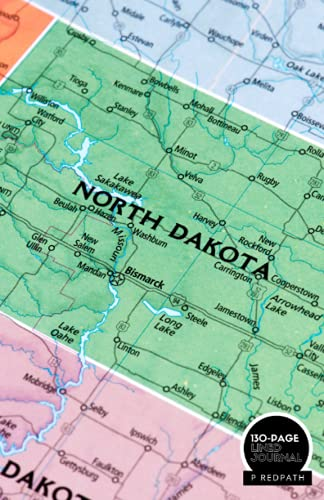 NORTH DAKOTA: A LINED NOTEBOOK & JOURNAL: An Awesome North Dakota Notebook With Lined Interior - Great Gift For Travel Lovers