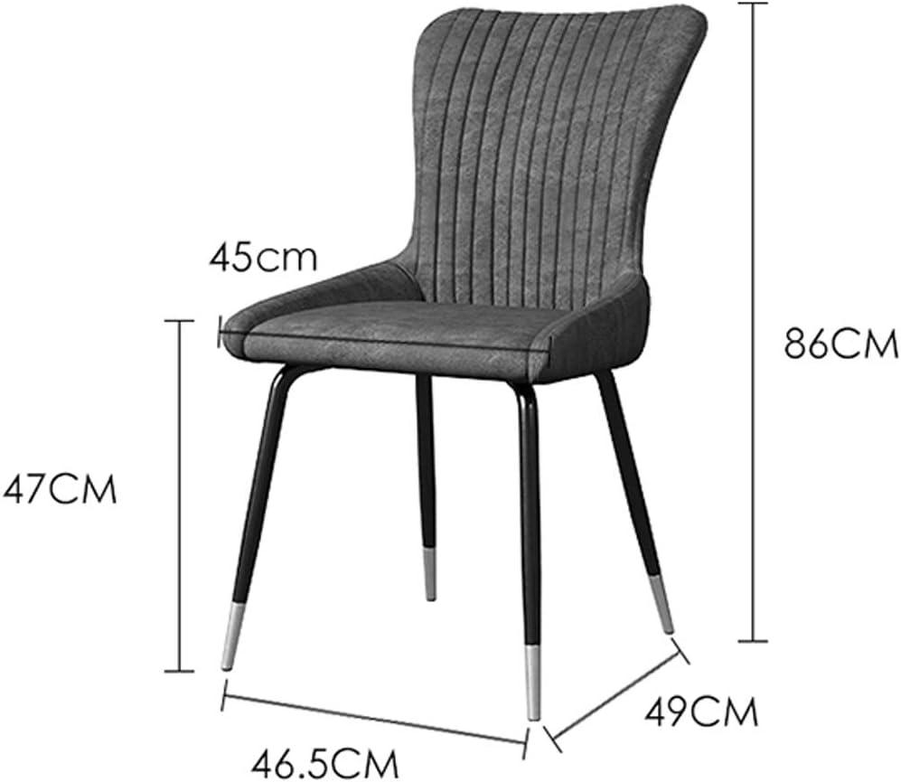 LF Chaise de Salle, Chaise de Bureau Simple, créative Dossier, Chaise Loisirs, Maison Adulte Chaise de Salle Simple (Color : Blue-A) Brown-b