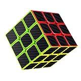 Projectfont Cubo Carbonio 3x3 Versione Magico di Ultima Generazione Veloce e Liscio Materiale Durevole Non tossico per Adulti e Ragazzi Puzzle Super Resistente Gioco di Allenamento Mentale