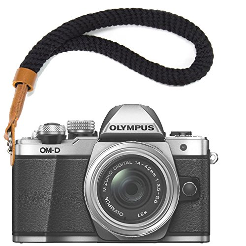 Negro Cámara Digital Correa muñeca Brazalete algodón Suave cámara Correa para Fujifilm XE3 X100F X100T X100S XT20 XT10 XT3 XT2 XT1 X70 X-Pro2 X-Pro1 X-E2S XE2 X30 X20 X10 XF1 etc