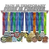 VICTORY HANGERS Perchas para medallas motivadoras de 17.72 Pulgadas, Pain is Temporary Pride is Forever