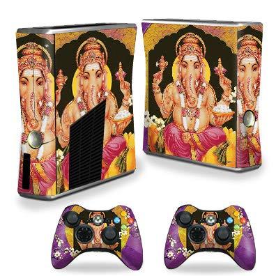 MightySkins - Skin para Consola Xbox 360 S, diseño de Elefante hindú, Protectora, Duradera y única, Vinilo calcomanía, fácil de aplicar, Quitar y Cambiar Estilos, Fabricado en...