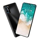 Smartphone Desbloqueado 8 + 256GB, 8.0MP, 6800mAh, SIM 4G Dual, Pantalla FHD De 7.5 Pulgadas, Reconocimiento Facial De Huellas Dactilares, Teléfono Negro