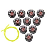 10x Petrol Snap In Primer Bulb + Fuel Line Replacement For Ryobi Stihl