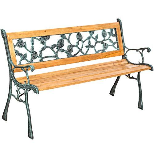 TecTake Banc de Jardin en Bois | diverses modèles (Marina 128 x 51 x 73cm | no. 401424)
