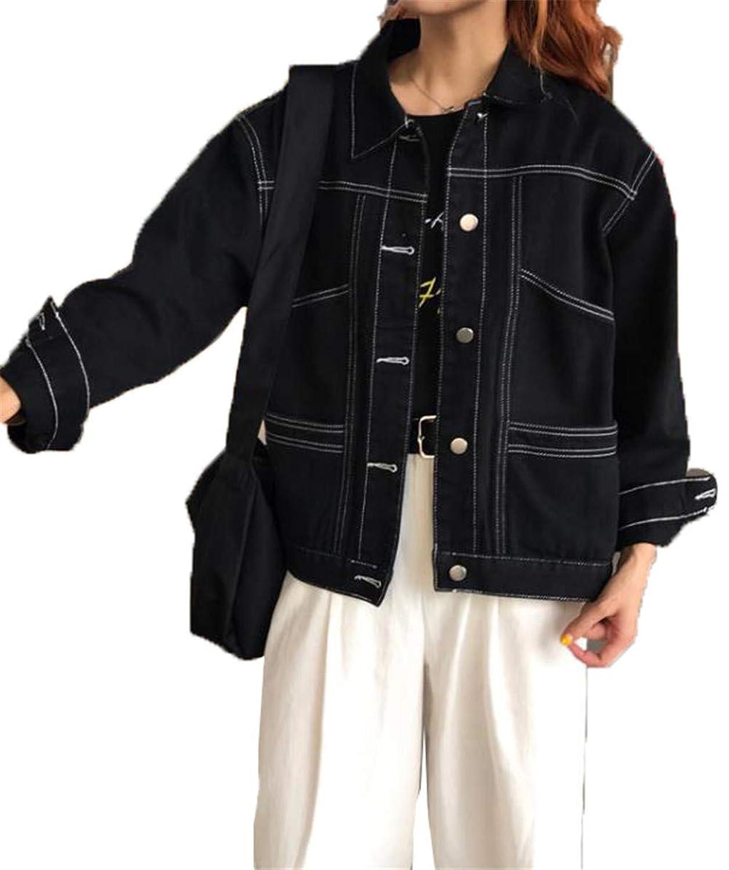 [ベィジャン] レディース トップス ジャケット デニム アウター 体型カバー ポケット ジャンパー Gジャン ファッション 春秋 通勤通学 大きいサイズ
