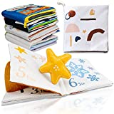 Richgv Livres en Tissu Doux pour bébé, Livres interactifs en Tissu 3D pour Enfants en Bas âge, garçons Filles Jouet de Voyage Parfait bébé Douche précoce Jouets éducatifs Cadeaux d'anniversaire