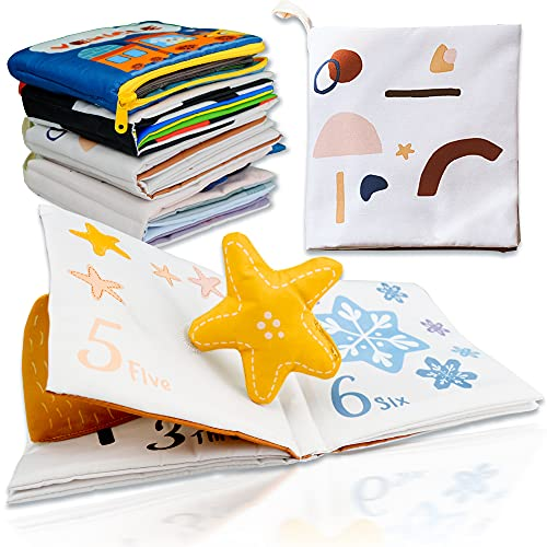 Richgv 3D Libro di Stoffa, Morbido Libri per Bambini, Neonato, Giocattoli da Viaggio, Il Mio Primo Libro, Giocattoli educativi per l'apprendimento. Libri di attività. Regali del Primo Anno(Numero)
