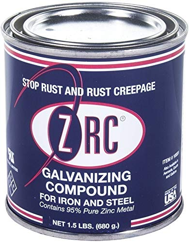 ZRC 10001 Cold Galvanizing Compound  1/2 Pint   Iron and Steel Corrosion Protection   Matches Hot-Dip Galvanized Performance   Contains 95-Percent Metallic Zinc