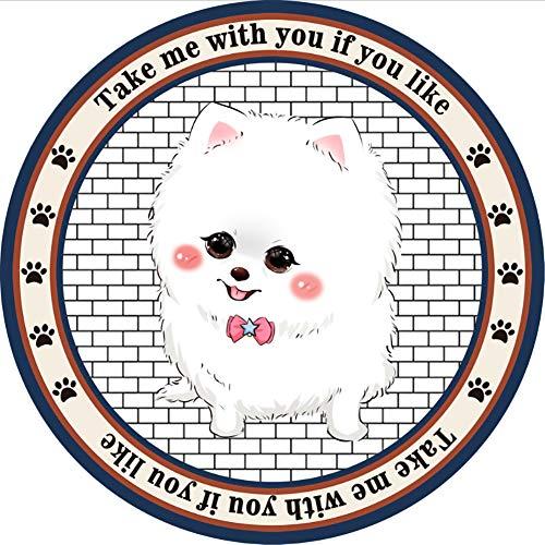 Demarkt - Manta para Mascotas, Redonda, Antideslizante, Caricatura, Manta para Perros, Cama para Perros y Gatos