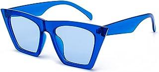 JFAN - Gafas de Sol Flat Top Cuadradas de Gran Tamaño Hombres Mujeres Gafas de Sol Cuadradas Vintage UV400 Fashion Lentes