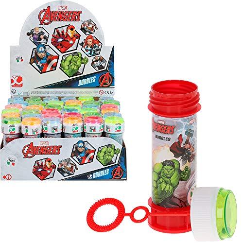 ColorBaby   Pack 36 pomperos de jabón, pompero Avangers, 60 ml, pomperos superhéroes, pompas de jabón niños, juguetes Avangers, regalos niños, pomperos baratos