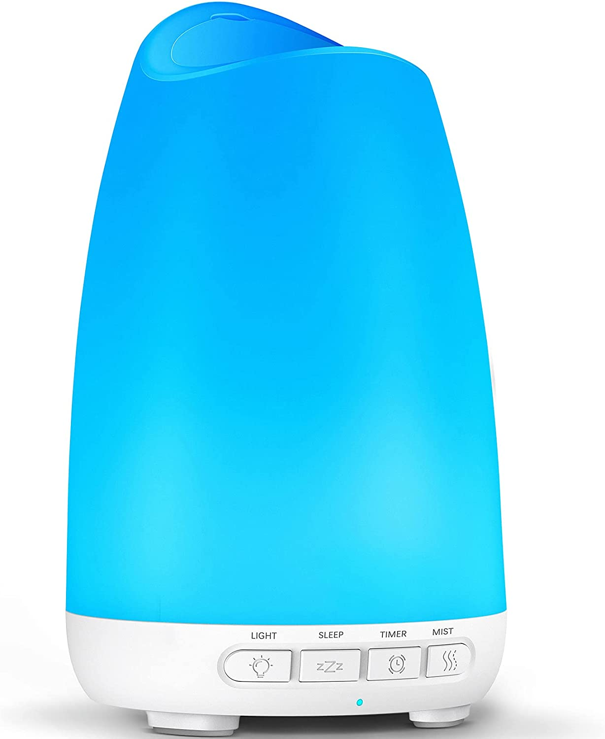 Essential Oil Diffuser, 150mL Aromatherapy Diffusers for Essential Oils with 8 Color Lights, Aroma Air Diffuser Cool Mist Humidifier with Sleep Mode and Timer, Waterless Auto Shut-Off for Home Office