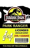 Jurassic Park Novelty ID Badge Prop Costume Park Ranger
