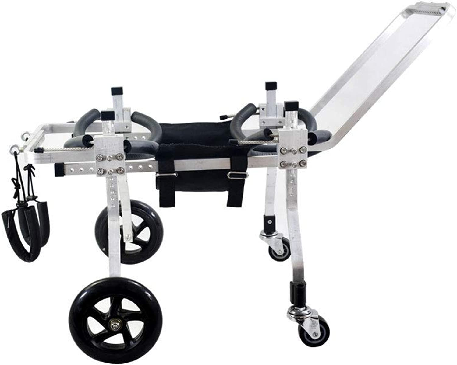 4wheel dog wheelchair, dog scooter, suitable for pets hind leg practice rehabilitation limb disabled pet injury assisted walking, large small dogs can be used, size can be adjusted, ( Size   S03 )