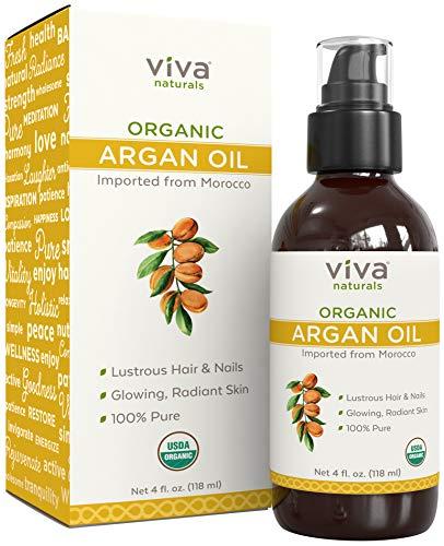 Argan Oil Hair Oil - Cold-pressed Moroccan Argan Oil for Hair, Pure Argan Oil for Skin & Face, 4oz