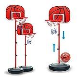H0_V Basketballständer Kinder, Basketballkorb mit Ständer Höhenverstellbar Basketball-Backboard Ständer Hoop Set für Kinder Indoor Outdoor Sportspielzeug