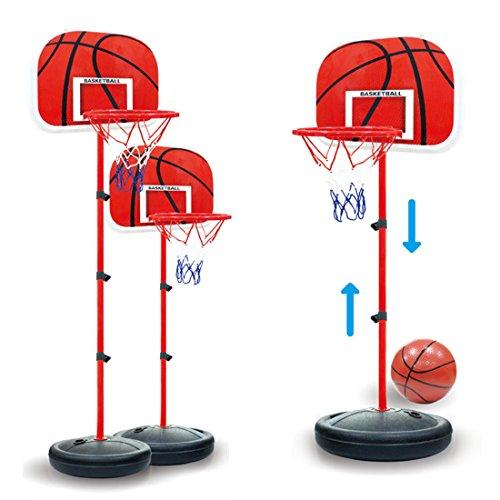 ColiCor Basketballkorb Kinder, 63-150CM Kinder Einstellbare Basketballständer mit Basketball und Inflator