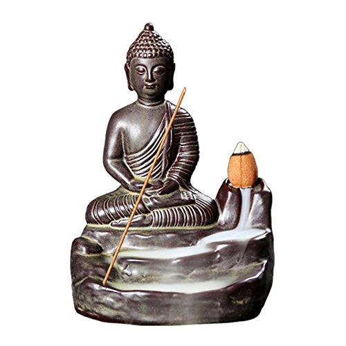 Handgemachte Rauch Räucherstäbchenhalter, Buddha Backflow Räucherstäbchenhalter, Buddhistischer Rückfluss Räuchergefäß Halter, Keramik Wasserfall Für Familie Büro Schlafzimmer Yoga Dekoration