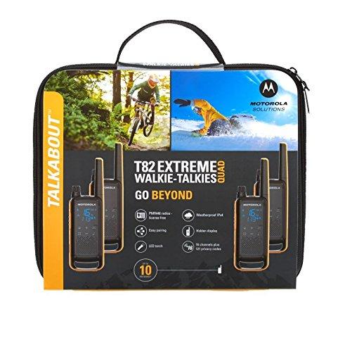 Motorola Talkabout T82 PMR446 2-Way Walkie Talkie Radio Twin Pack – Orange / Black