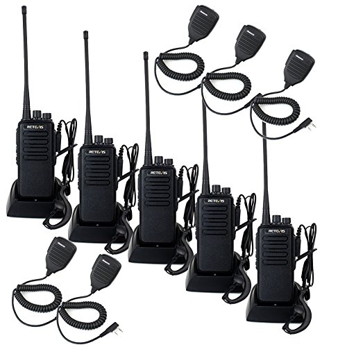 New Retevis RT1 Two Way Radio 3000mAh High Power Walkie Talkies Long Range with Earpiece Mic Especia...
