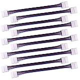 LitaElek 5-pin RGBW LED Strip cable de conector para 10mm de ancho SMD 5050 RGBW LED tira de luz LED de la cinta de la luz Converter Adaptador para conectar 2 RGBW LED tiras junto-17cm de largo(10pcs)