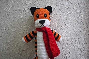 Handmade Hobbes Calvin and Hobbes 20   Crochet Hobbes Hobbes Tiger Plushie Tiger Handmade Hobbes Stuffed Tiger