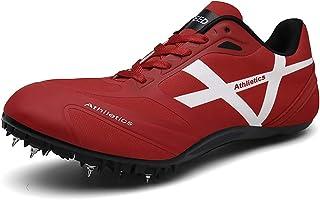 Track & Field Spike, 8 Spike Plastic Track Spikes Track & Field Medium en korte hardloopschoenen voor heren en dames,Red,40EU