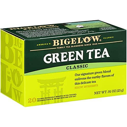 Bigelow Green Tea Bags, 20 Count Box (Pack of 6) Caffeinated Green Tea, 120 Tea Bags Total