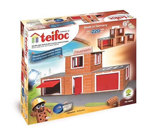 Eitech TEI 4800 Teifoc Steinbaukästen 4800-Feuerwehr, Mehrfarbig, Feuerwehr