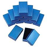 SUPERFINDINGS 20pcs Cajas de Regalo de Joyería de Cartón Azul con Almohadilla de Esponja En el Interior para Collares Pulseras Pendientes Anillos Regalos para Mujeres