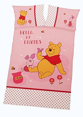 Herding Disney's Winnie Puuh Parure de lit, Coton, Rose, 100x135x0,5 cm